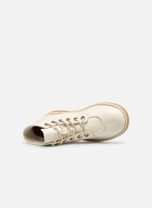 Zapatos con cordones Kickers Kick Legend Blanco vista lateral izquierda