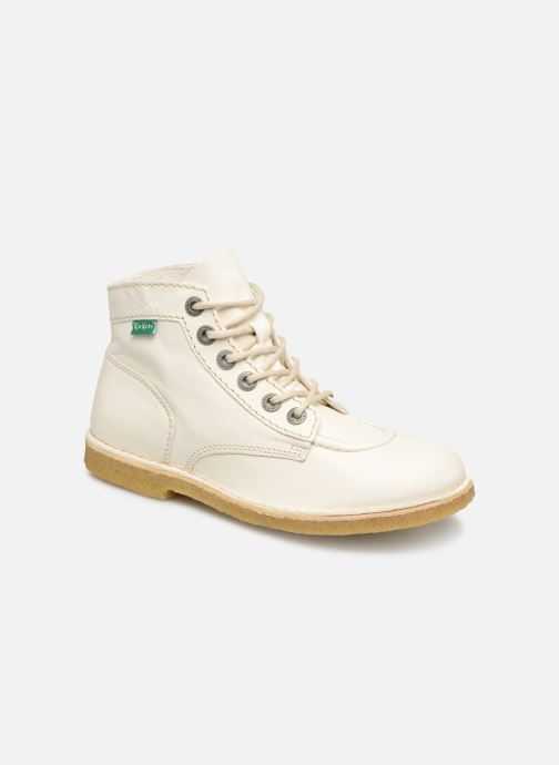 Chaussures à lacets Kickers Kick Legend Blanc vue détail/paire