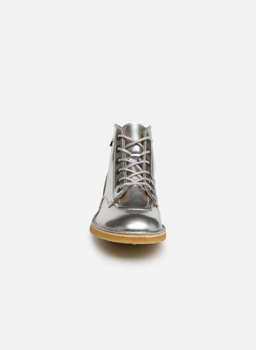 Zapatos con cordones Kickers Kick Legend W Plateado vista del modelo