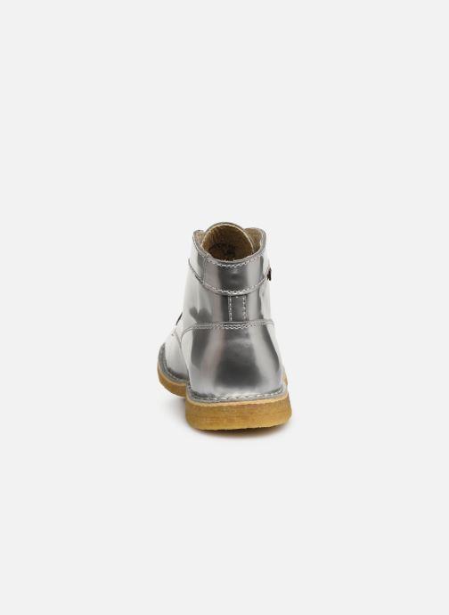 Zapatos con cordones Kickers Kick Legend W Plateado vista lateral derecha