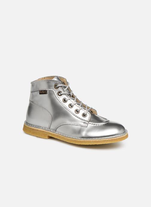 Zapatos con cordones Kickers Kick Legend W Plateado vista de detalle / par