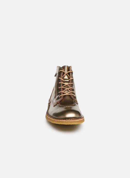 Chaussures à lacets Kickers Kick Legend Or et bronze vue portées chaussures