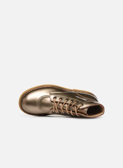 Chaussures à lacets Kickers Kick Legend Or et bronze vue gauche