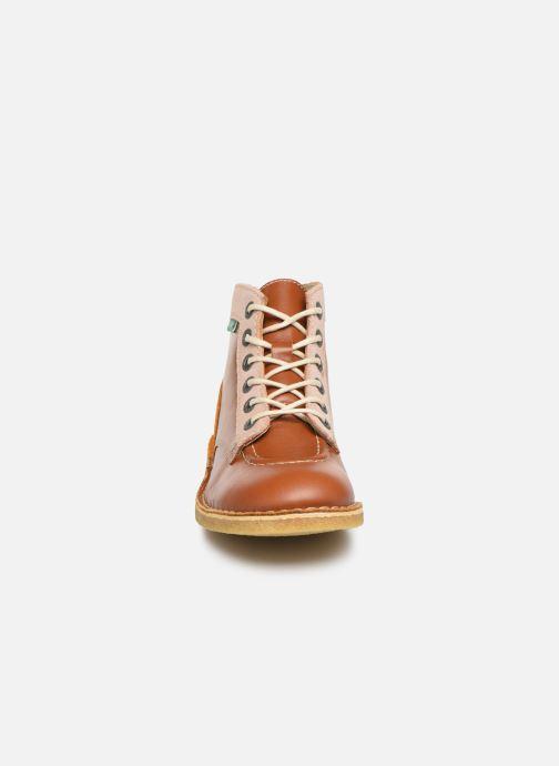Chaussures à lacets Kickers Kick Legend Marron vue portées chaussures
