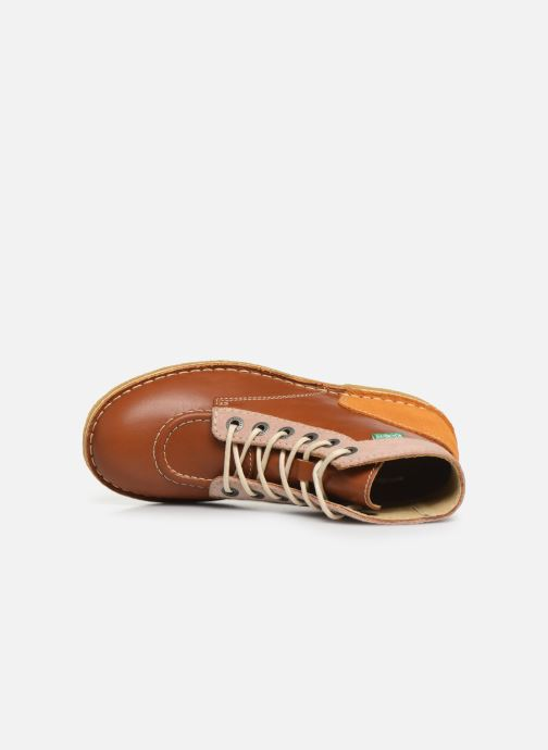 Chaussures à lacets Kickers Kick Legend Marron vue gauche