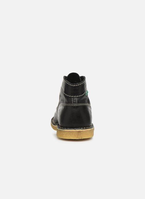 Zapatos con cordones Kickers Kick Legend Negro vista lateral derecha