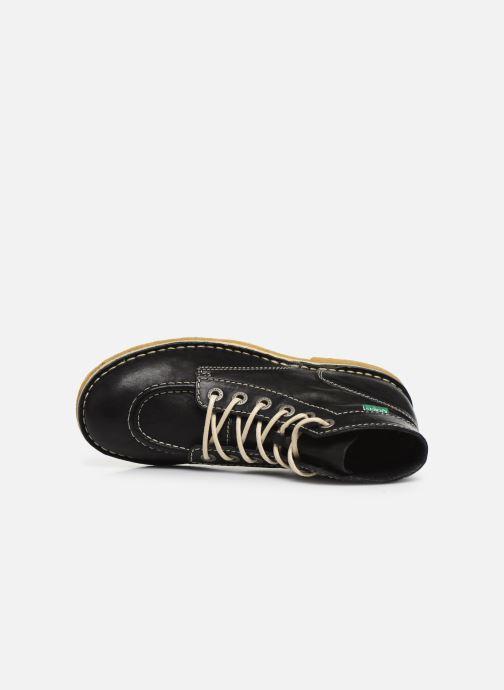 Zapatos con cordones Kickers Kick Legend Negro vista lateral izquierda