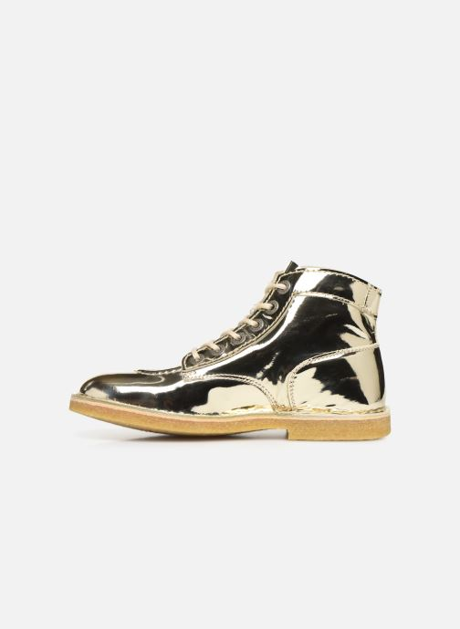 Chaussures à lacets Kickers Kick Legend Or et bronze vue face