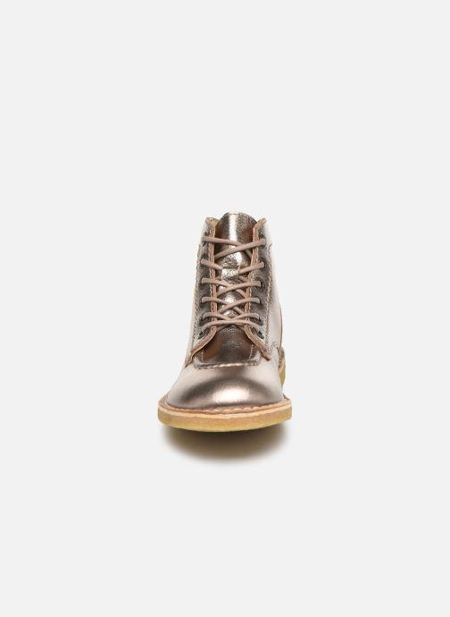Zapatos con cordones Kickers Kick Legend Oro y bronce vista del modelo