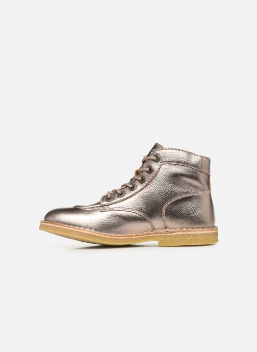 Zapatos con cordones Kickers Kick Legend Oro y bronce vista de frente
