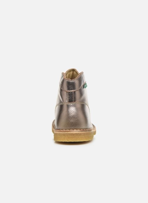 Zapatos con cordones Kickers Kick Legend Oro y bronce vista lateral derecha