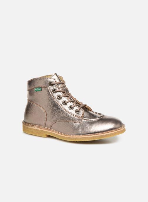 Zapatos con cordones Kickers Kick Legend Oro y bronce vista de detalle / par