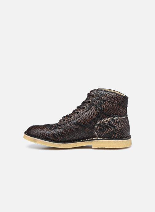 Chaussures à lacets Kickers Kick Legend W Marron vue face