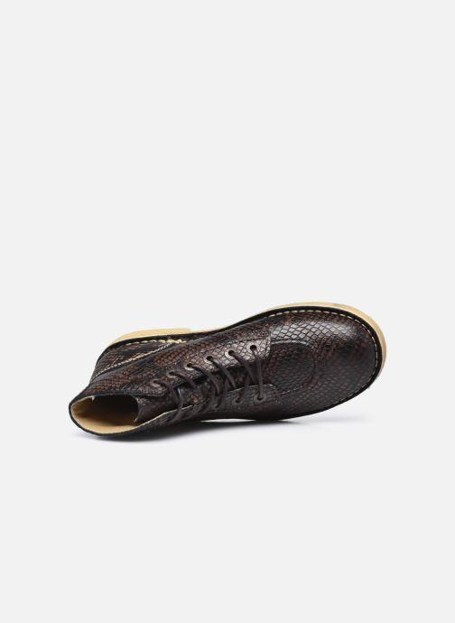 Chaussures à lacets Kickers Kick Legend W Marron vue gauche