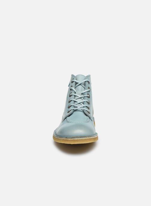 Scarpe con lacci Kickers Kick Legend Azzurro modello indossato