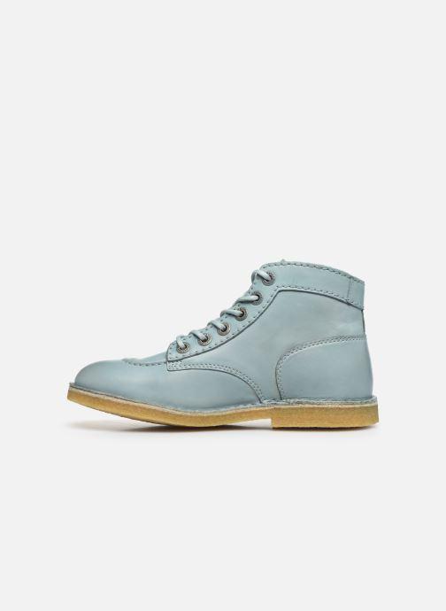 Zapatos con cordones Kickers Kick Legend Azul vista de frente