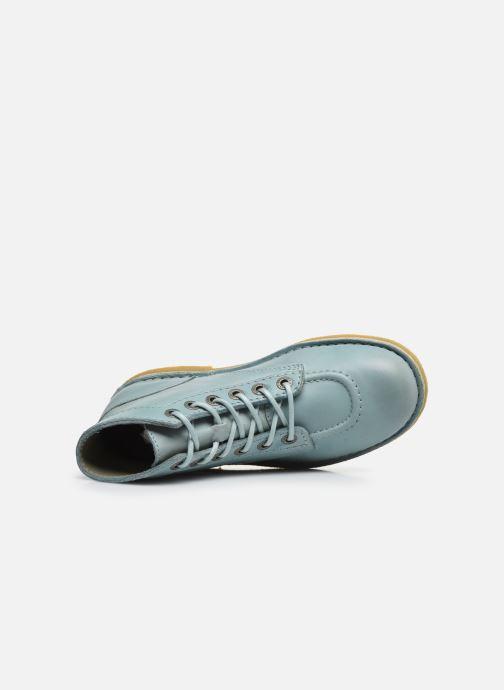 Zapatos con cordones Kickers Kick Legend Azul vista lateral izquierda