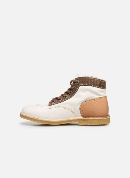 Zapatos con cordones Kickers Kick Legend W Blanco vista de frente