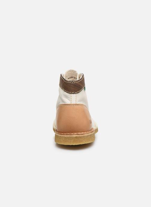 Zapatos con cordones Kickers Kick Legend W Blanco vista lateral derecha