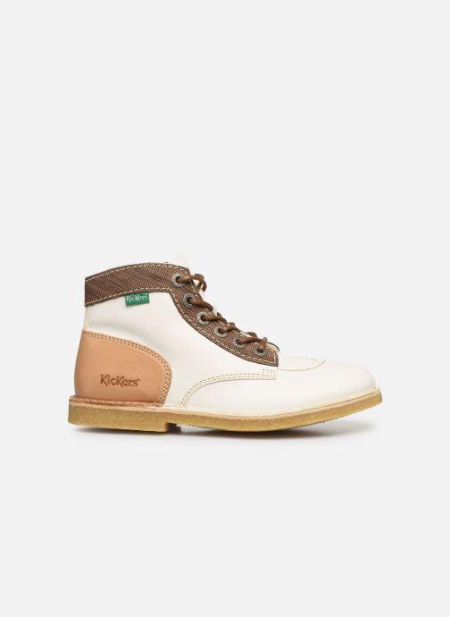 Zapatos con cordones Kickers Kick Legend W Blanco vistra trasera