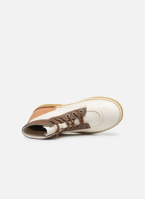 Zapatos con cordones Kickers Kick Legend W Blanco vista lateral izquierda