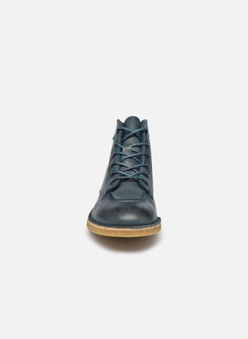 Chaussures à lacets Kickers Kick Legend W Bleu vue portées chaussures
