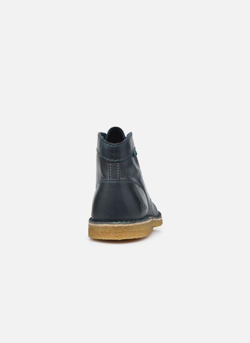Zapatos con cordones Kickers Kick Legend W Azul vista lateral derecha