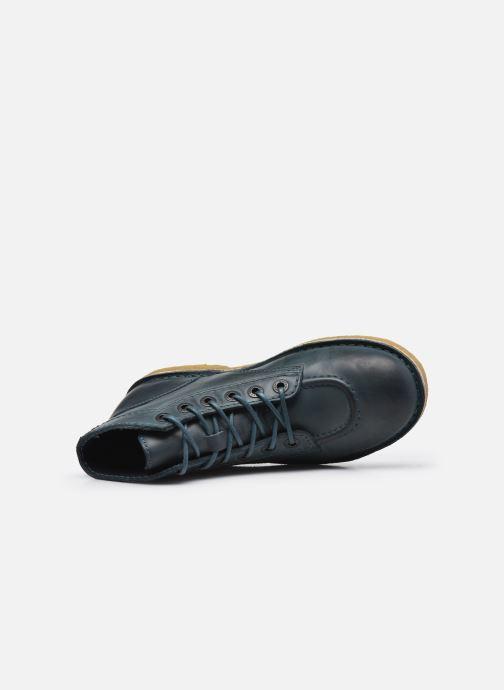 Zapatos con cordones Kickers Kick Legend W Azul vista lateral izquierda
