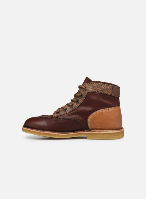 Chaussures à lacets Kickers Kick Legend W Marron vue face