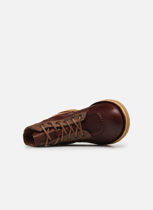 Zapatos con cordones Kickers Kick Legend W Marrón vista lateral izquierda