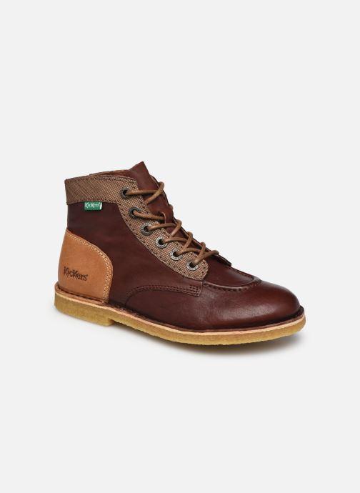 Zapatos con cordones Kickers Kick Legend W Marrón vista de detalle / par