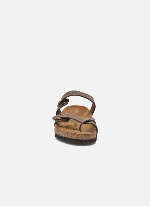 Mules et sabots Birkenstock Mayari Flor Women Marron vue portées chaussures