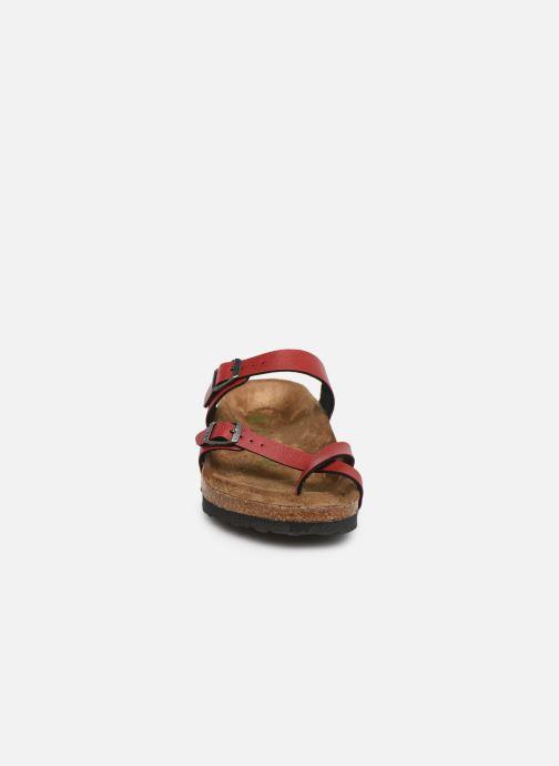 Clogs & Pantoletten Birkenstock Mayari weinrot schuhe getragen