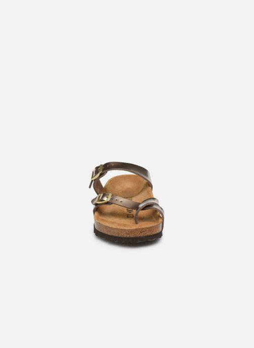 Clogs & Pantoletten Birkenstock Mayari gold/bronze schuhe getragen