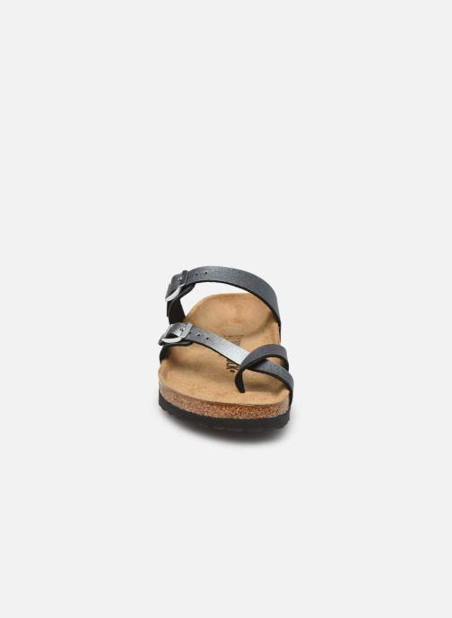 Clogs & Pantoletten Birkenstock Mayari grau schuhe getragen