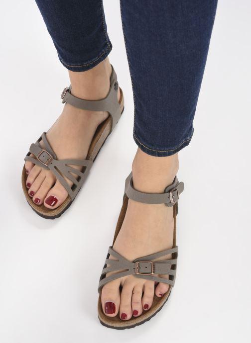 Sandales et nu-pieds Birkenstock Bali Flor W Gris vue bas / vue portée sac