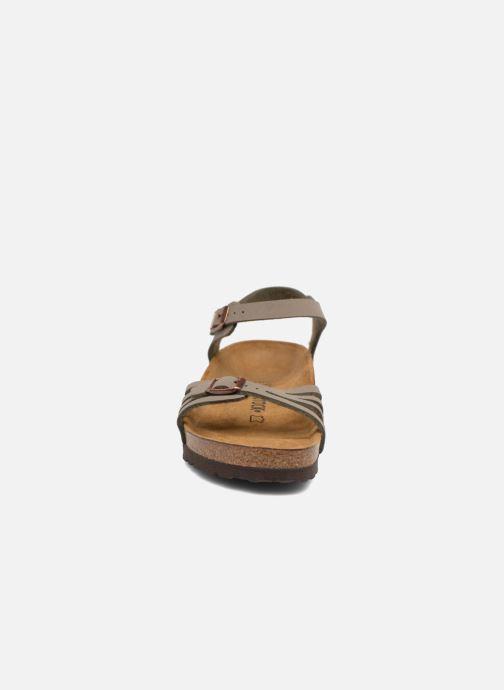 Sandales et nu-pieds Birkenstock Bali Flor W Gris vue portées chaussures