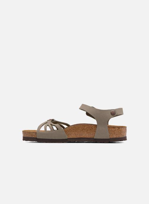 Sandales et nu-pieds Birkenstock Bali Flor W Gris vue face