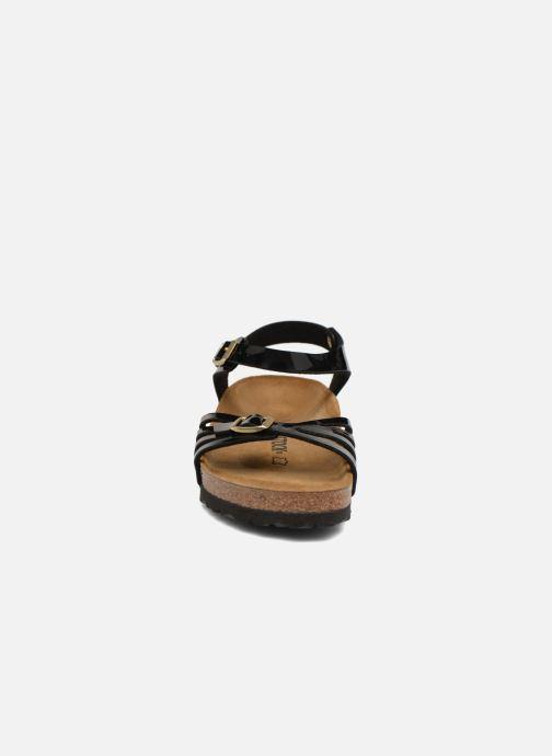 Sandali e scarpe aperte Birkenstock Bali Flor W Nero modello indossato