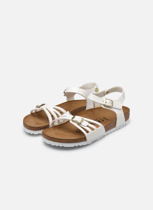 Sandales et nu-pieds Birkenstock Bali W Blanc vue bas / vue portée sac