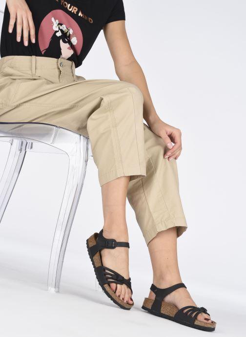 Sandales et nu-pieds Birkenstock Bali Flor W Noir vue bas / vue portée sac