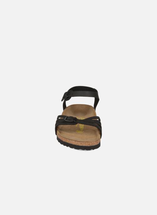 Sandalen Birkenstock Bali Flor W schwarz schuhe getragen