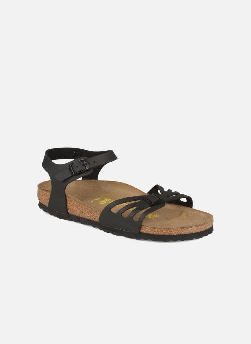 Sandales et nu-pieds Birkenstock Bali Flor W Noir vue détail/paire