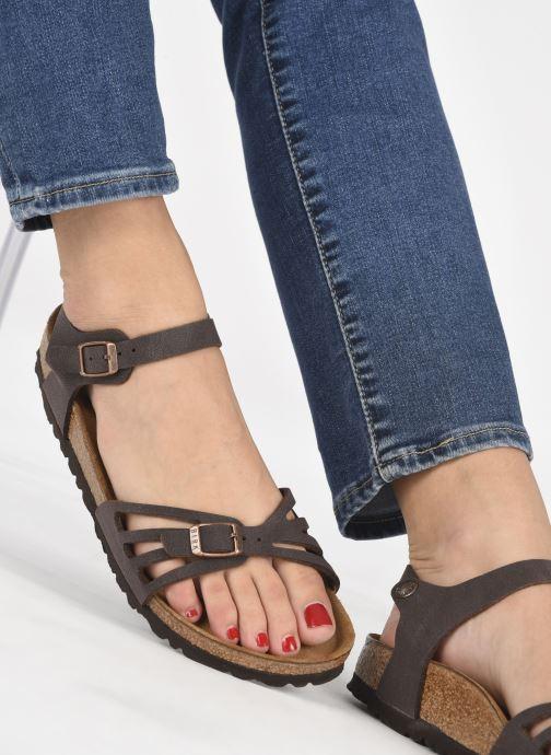 Sandales et nu-pieds Birkenstock Bali Flor W Marron vue bas / vue portée sac