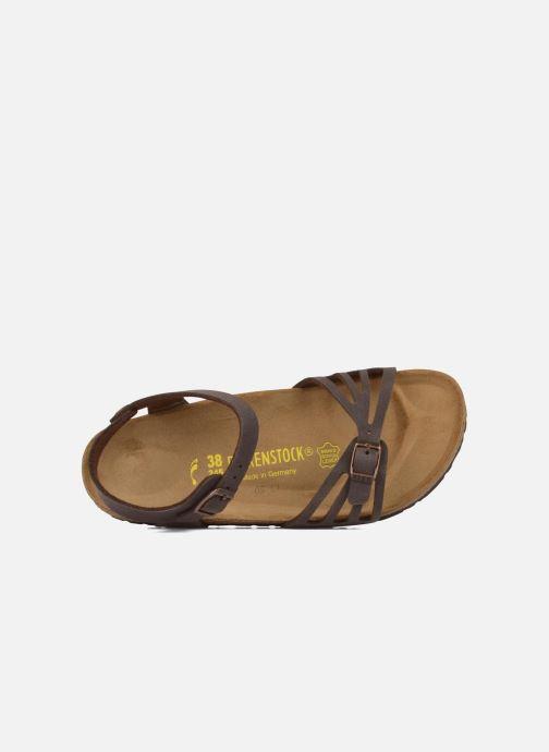 Sandales et nu-pieds Birkenstock Bali Flor W Marron vue gauche