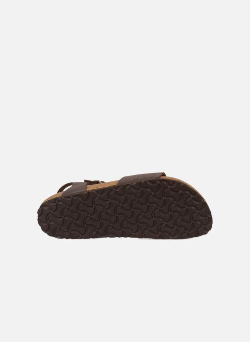 Sandales et nu-pieds Birkenstock Bali W Marron vue haut