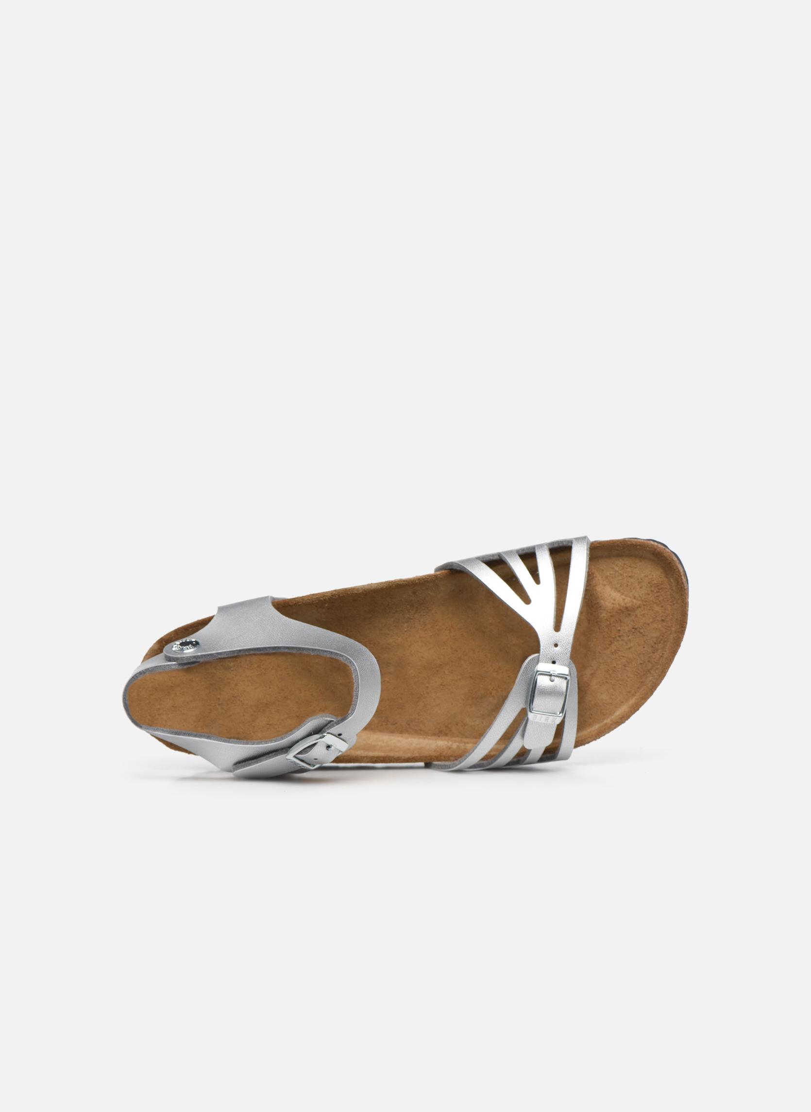 Sandales et nu-pieds Birkenstock Bali W Argent vue gauche