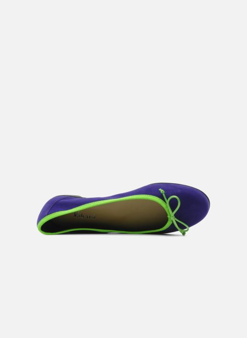 Ballet pumps Valensi Vega Purple view from the left