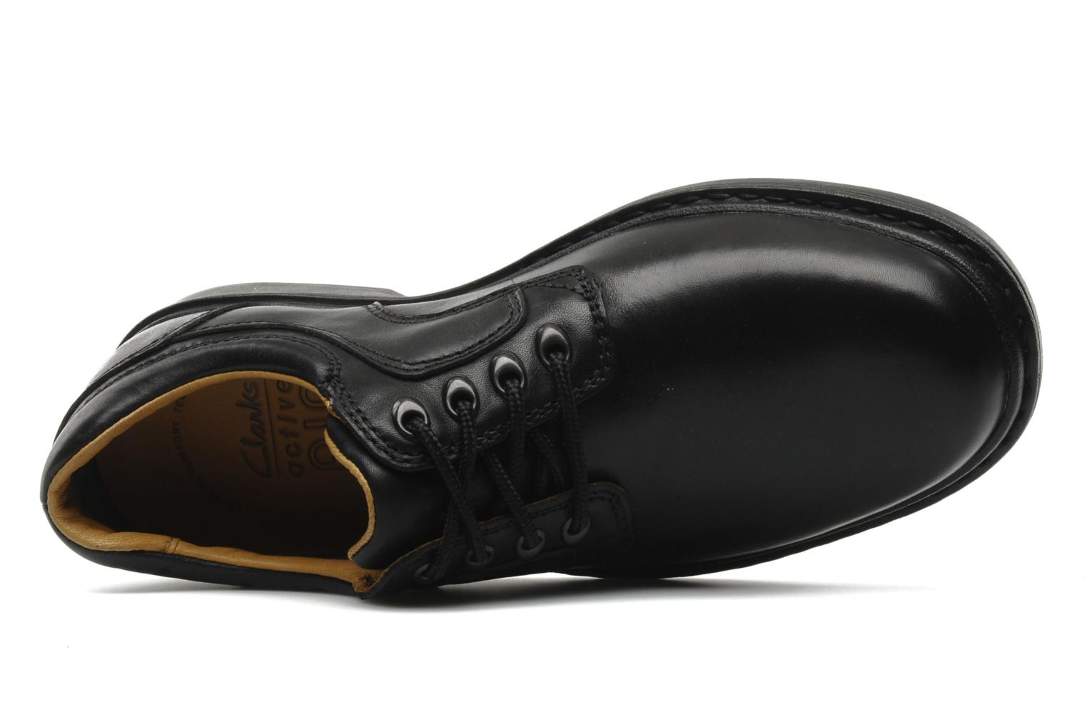 Lace-up shoes Clarks Rockie Lo Gtx Black view from the left