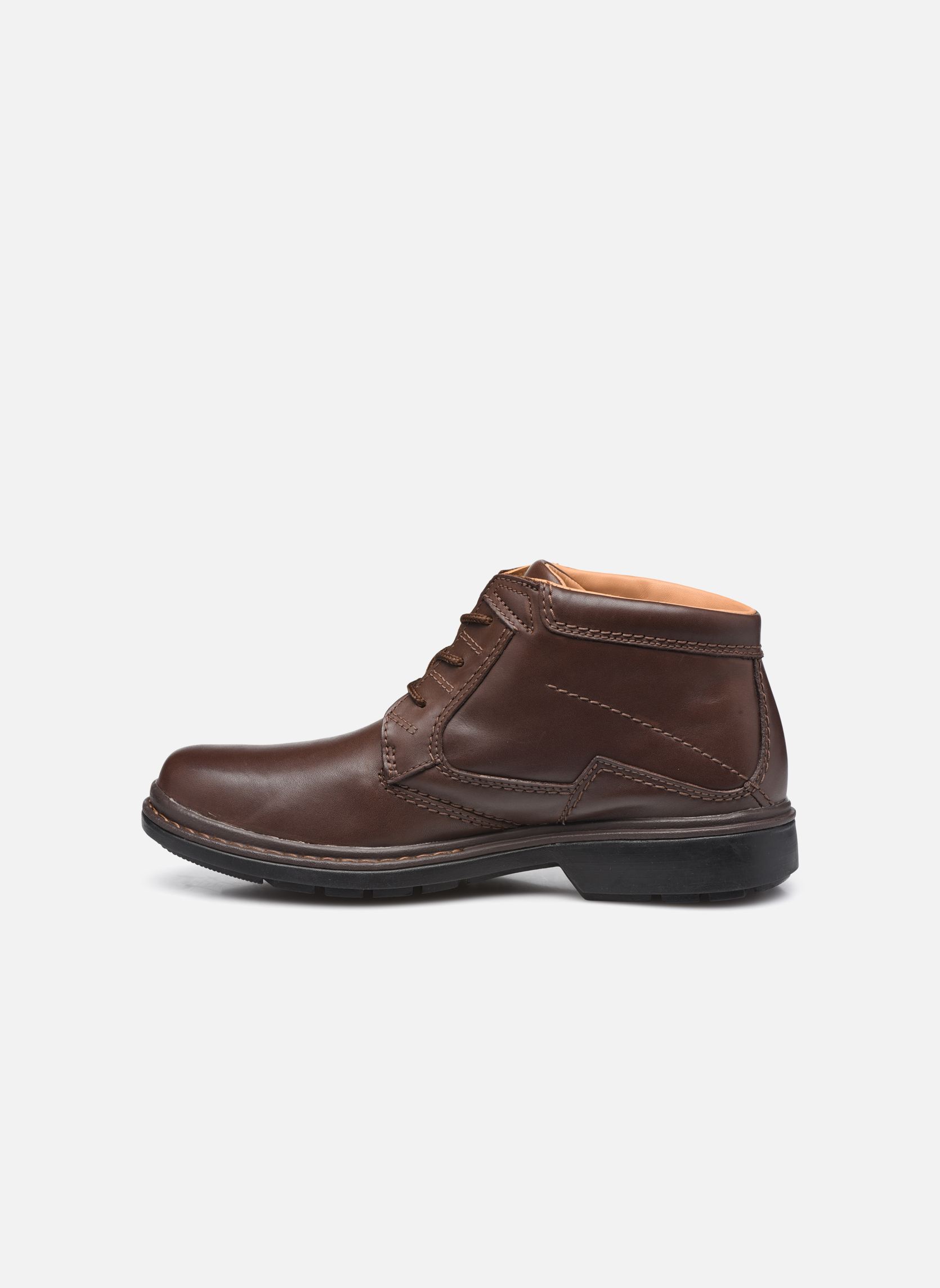 Chaussures à lacets Clarks Rockie Hi Gtx Marron vue face